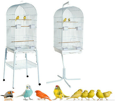 £24.99 • Buy Rainforest Caracus Large White Budgie Cockatiel Finch Canary Cage & Stand Choice