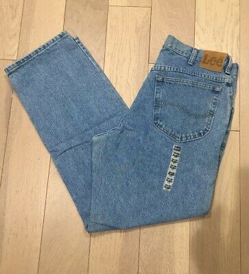 c2e50c61 Lee Relaxed Fit Straight Leg Men's Jeans Size 34 X 30 NEW Light Wash • 16.00