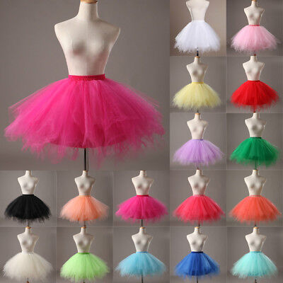 UK Women Adult Lady Tutu Tulle Skirt Fancy Skirt Dress Up Party Dancing Dress • 7.92£