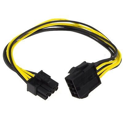 £3.01 • Buy 30cm 8 Pin PCI Express PCIe Power Extension Cable Male To Female [006233]