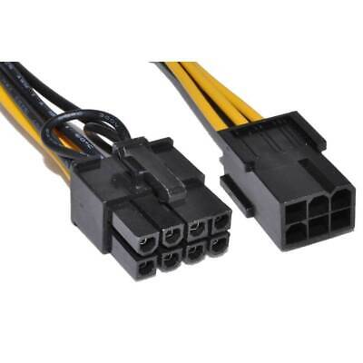 £2.60 • Buy 10cm PCI Express PCIe 6 Pin To 8 Pin Graphics Card Power Adapter Cable [006486]