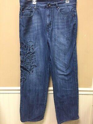 488b7671 Ecko Unlimited Mens Jeans Baggy Fit Size 36 Embroidery • 24.99$