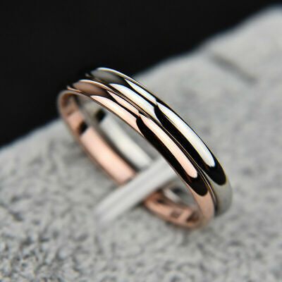 2mm Thin Stackable Ring Stainless Steel Wedding Band For Women Girl • 1.59£