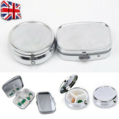 Semi Automatic Daily Pill Box Medicine Organizer Container Case Storage Travel D • 2.99£