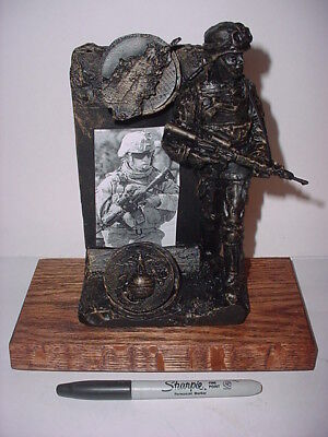 Soldier With Base I Was There Rod Mench Studio Statue Figurine Iraq Afghanistan  • 25.94£