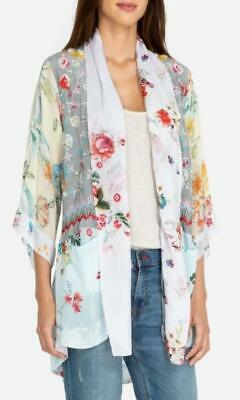 $110 • Buy Johnny Was Pastel Floral Embroidered Kimono