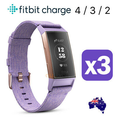 AU5.75 • Buy 3x Fitbit Charge 4/ 3 / 2 Compact TPU Hardness Anti-Fingerprint Screen Protector