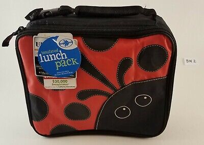 California Innovations Ladybug Red Black Insulated Zippered Lunch Bag With Handl • 8.36£