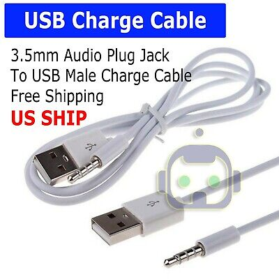 $2.95 • Buy 3.5mm AUX Audio Plug Jack To USB 2.0 Male Charge Cable Adapter Cord Car IPod MP3