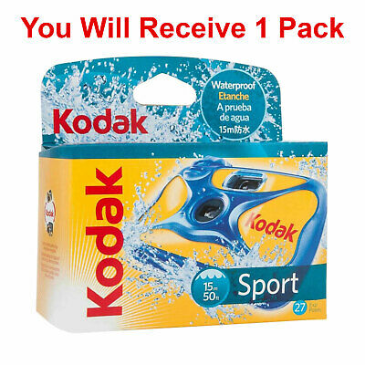£14.05 • Buy 1x Kodak Underwater Disposable Camera Sport Waterproof 35mm Film 27 Exp 2020