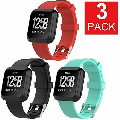 $ CDN9.35 • Buy 3 PACK Fitbit Versa Silicone Replacement Band Sport Fitness Yoga Wristband