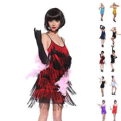 £15.99 • Buy Sexy Charleston Flapper Fringe Fringed Fancy Dress Party Costume Outfit Women