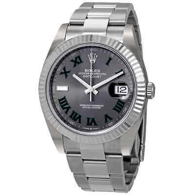 $ CDN14486.95 • Buy Rolex Datejust 41 Slate Dial Automatic Men's Steel And White Gold Oyster Watch