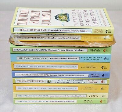 $65 • Buy Lot Of 10 Wall Street Journal Financial Guidebooks