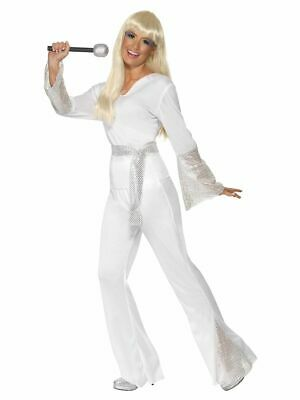 NEW 1970'S Disco Lady Dancing Queen Abba Ladies Smiffy's Fancy Dress Costume  • 21.99£
