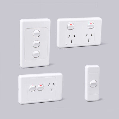AU7.49 • Buy 10 Amp Socket Light Switch Dimmer | 15A Double Pole GPO Plate LED Power SAA
