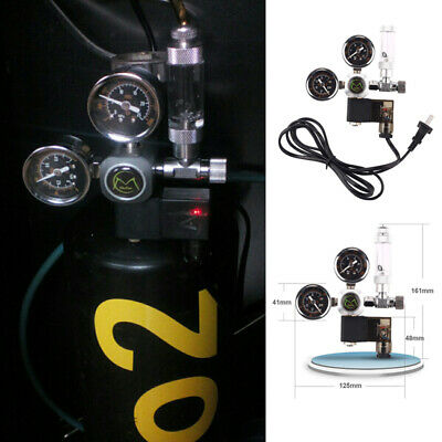Dual Gauge CO2 Pressure Regulator Bubble Counter Solenoid Valve Aquarium System • 32.88£