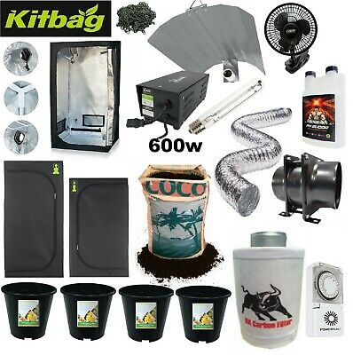 Grow Tent Full Setup Complete Indoor Grow Kit 600w Extractor Fan ALL Sizes  Room • 264.99£