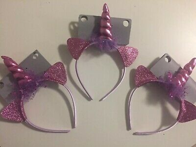 AU15.50 • Buy 3x Unicorn Dress Up, Party Favour Unicorn Headbands