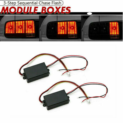 $13.79 • Buy 2 Universal Module Boxes W/ 3 Step Sequential Chase Flash Fits Turn Signal Light