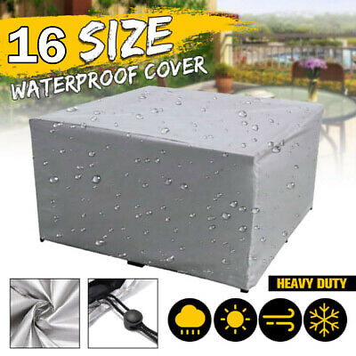 Waterproof Patio Furniture Cover Garden Rattan Table Chair Cube Cover Outdoor • 11.38£