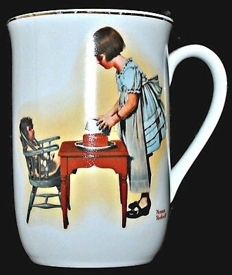 $ CDN8.99 • Buy Vintage 1981 Norman Rockwell Coffee Mug Party Time Tea Cup Porcelain Tea Party