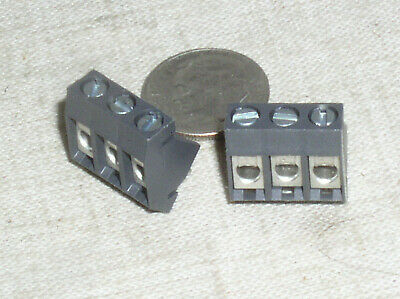 $1.49 • Buy 2 Weco 974-t-ds/03 3 Pos Pole Position 5mm Pcb Pwb Terminal Block 20 A Amp Usa