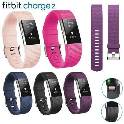 $ CDN5.78 • Buy For Fitbit Charge 2 Strap Sports Wrist Band Silicone Replacement Small Large