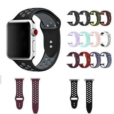 $ CDN5.69 • Buy Replacement Silicone Sports BandS 38/42mm For Apple Watch Series1 2 3 4 Sold Hot