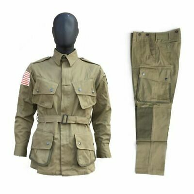 $89.99 • Buy  WWII US Army Paratrooper M42 Uniform Airborne Field Jacket Trousers Size 44R/L