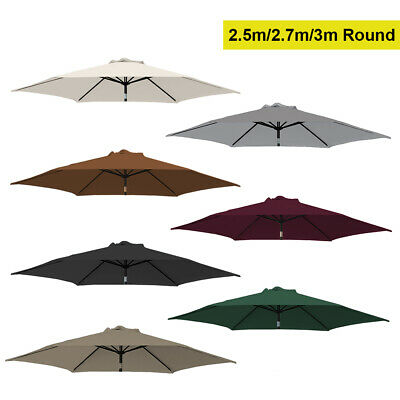 Replacement Fabric 2.5m 2.7m 3m Garden Patio Parasol Canopy Cover 6 Arm Or 8 Arm • 23.99£