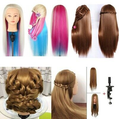 Salon 70% 100% Real Human Hair Training Head Hairdressing Styling Mannequin Doll • 16.89£