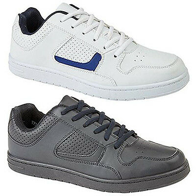 Mens Wide Fitting Trainers Black / White Lace Up Sizes UK 6 - 12  • 15.49£