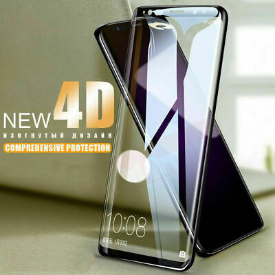 $ CDN9.66 • Buy Samsung Galaxy S9 S8 S10+ Note 8 9 4D Full Cover Tempered Glass Screen Protector