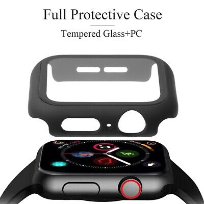 AU8.99 • Buy Tempered Glass Screen Protector Protective Case For Apple Watch Series 4/3/2/1