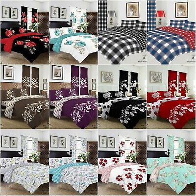 £14.95 • Buy New Duvet Set Quilt Cover Fitted Sheet Pillow Cases Or Matching Curtains