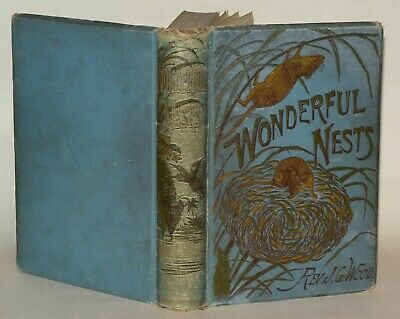 £69 • Buy Wonderful Nests - From  Homes Without Hands  - Rev. J. G. Wood - 1887 HB