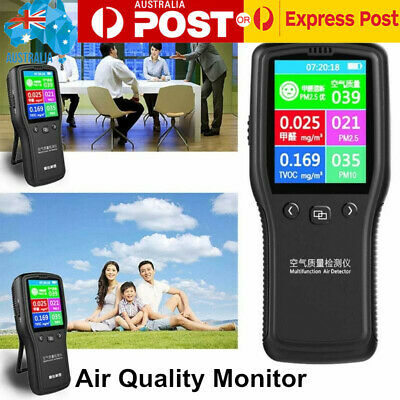 AU51.62 • Buy LCD Digital Air Quality Monitor Gas Detector Analyzer Tester PM2.5/TVOC/HCHO AU