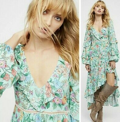 AU287.47 • Buy NEW Spell And & The Gypsy Collective Sayulita Frill Gown Maxi Dress Size Small