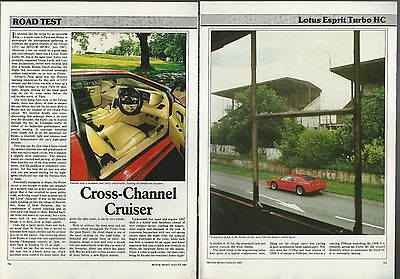 $ CDN7.23 • Buy 1987 LOTUS ESPRIT Road Test Article, Lotus Esprit Turbo HC From British Auto Mag