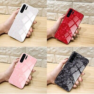 Case For Huawei P30 Pro Lite P40 Lite Pro Marble Tempered Glass Hard Phone Cover • 4.59£