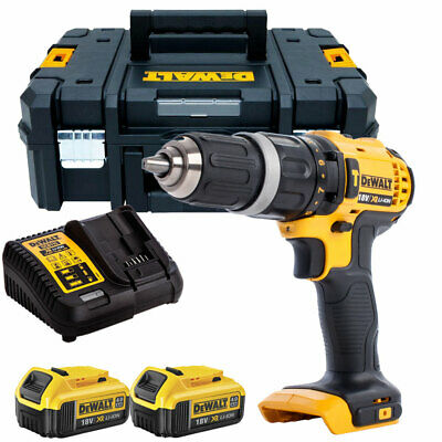 Dewalt DCD785N 18V 2-Speed Combi Drill + 2 X 4.0Ah Batteries & Charger In TSTAK • 214£