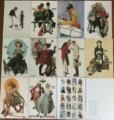 $ CDN20.73 • Buy 20 Classic Norman Rockwell Art Images As Quality Postcards
