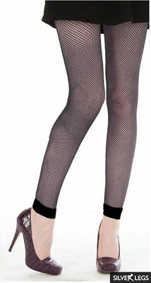 £5.95 • Buy Black Fishnet Footless Tights - Plain Cuff - One Size