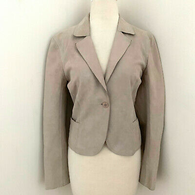 $ CDN118.14 • Buy M0851 Tailored Leather Blazer Jacket Sz Small Made In Canada