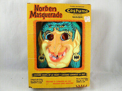 $ CDN49.99 • Buy Vintage Masquarade Halloween Mask & Costume In Box By Norben Canada