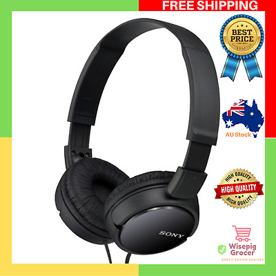 AU36.99 • Buy GENUINE BRAND NEW Sony MDR ZX110 On Ear Headphones Black Cord Lightweight Design