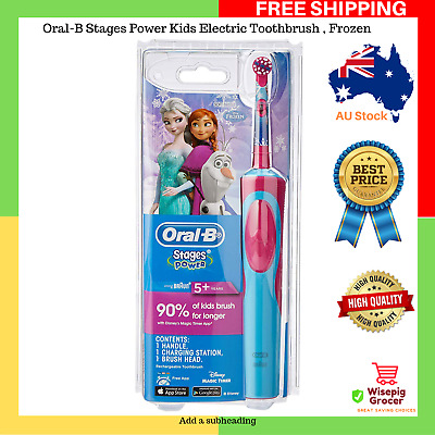 AU30.99 • Buy Extra Soft Oral-B Stages Power Kids Electric Toothbrush Kid Frozen NEW FREE SHIP