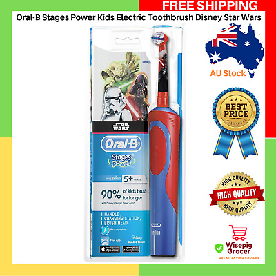 AU30.99 • Buy Extra Soft Oral-B Stages Power Kids Electric Toothbrush Disney Star Wars Kid NEW