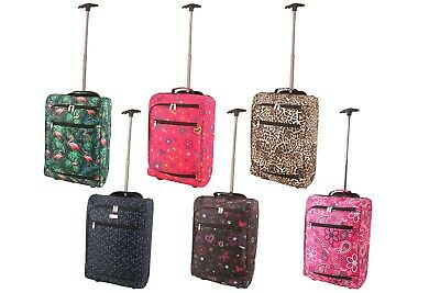 Cabin Case Lightweight Hand Luggage Airline Approved Travel Bag Wheels Handle • 8.99£